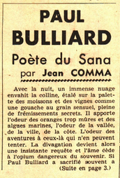 Paul Bulliard poete du sana par Jean Comma
